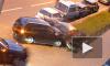 Водитель Suzuki на Среднеохтинском протаранил 5 машин, пока их хозяева спали
