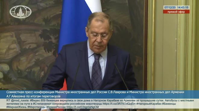 Лавров сообщил, что Ереван проявляет интерес к российской вакцине против коронавируса