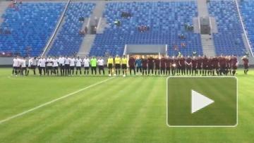 Видео первого матча на стадионе на Крестовском острове