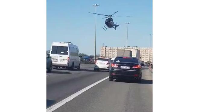 ДТП на КАДе не обошлось без вертолета