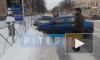 Три синие машины столкнулись в Гатчине: появилось видео