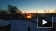 В Мяглово на базе загорелись две фуры