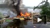 Пожар на плавучей пристани