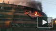На улице Профессора Качалова загорелся заброшенный дом