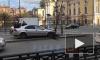 Видео: автомобиль врезался в столб на Владимирской площади