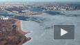 """Лахта Центр"" показал сход льда с Финского залива"