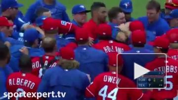 Массовая драка во время бейсбольного матча