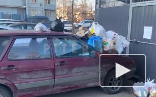 """""""Народная месть в действии"""": жители проспекта Мечникова закидали мусором машину автохама"""