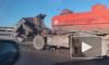Появилось видео с места жуткого ДТП с участием двух грузовиков на КАД