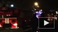 Ночью на Авангардной тушили сильный пожар на складе