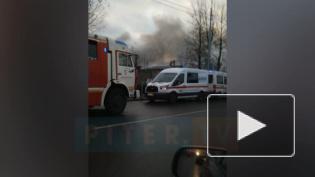 "На улице Салова вспыхнул ""Автотехцентр"""