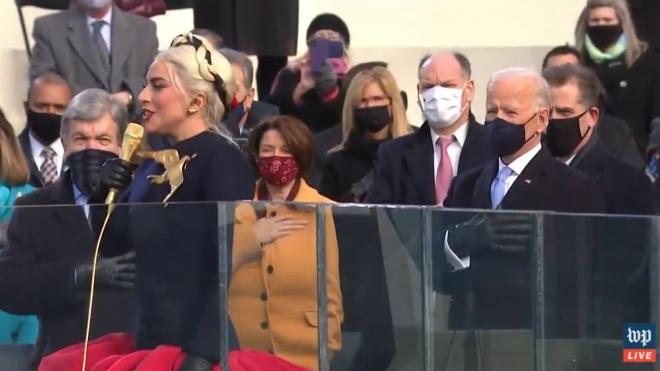Леди Гага исполнила гимн США на инаугурации Байдена