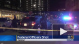 В Окленде обстреляли здание американской полиции