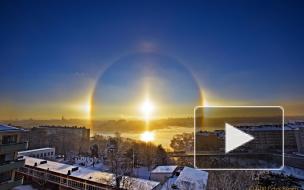 Редчайшую погодную аномалию — гало — сегодня могли наблюдать жители столичного региона