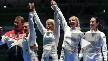 Российские саблистки – олимпийские чемпионки