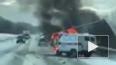 В Башкирии скорая помощь загорелась в результате ДТП