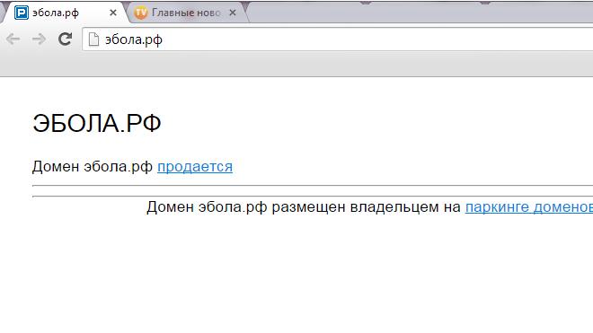 Петербуржец продает домен эбола.рф за €1 млн