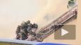 """Во время пожара на станции """"Фарфоровская"""" обгорел ..."""