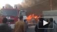 На юго-западе Москвы масштабный пожар на строительном ...