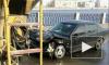 На Синопской набережной горящая машина с пьяным водителем собрала пробку