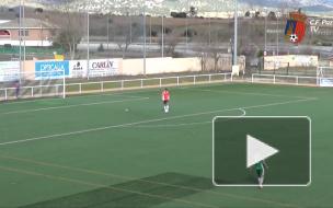 Испанский вратарь забил победный мяч с 80 метров