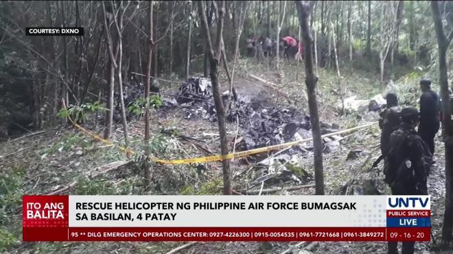 На Филиппинах четыре человека погибли при крушении военного вертолета