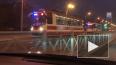 На Бухарестской улице собралась пробка из восьми трамвае...