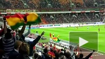 """Фанаты сборной Ганы танцуют на стадионе """"Локомотив"""""""