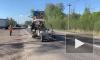Дорожники обновили разметку в четырех районах Ленобласти