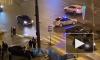 Авто вылетело на тротуар в результате ДТП в Красносельском районе