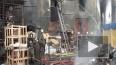 Пожар на Обводном: кадры с места происшествия
