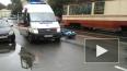 На Обуховской Обороны отчаянный скутерист угодил под авт...