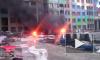 Появилось видео с Октябрьской набережной, где горит жилой комплекс