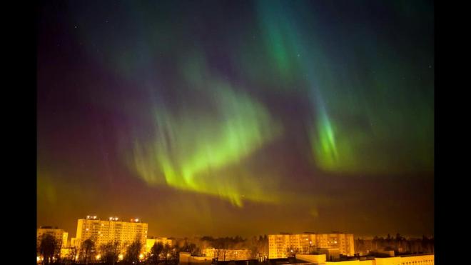 Жители Петербурга смогут увидеть северное сияние