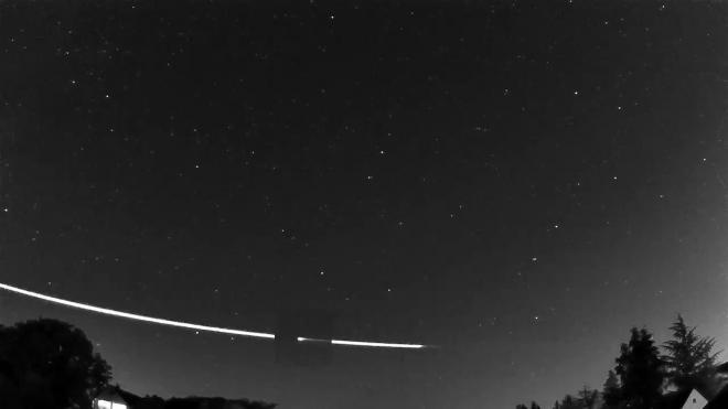 Опубликовано видео едва не коснувшегося Земли метеорита