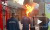 Видео: в Мурино загорелись бани