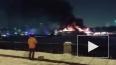 Видео из Москвы: На Нагатинской набережной горит теплохо...
