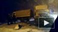 На севере КАД в сторону Кронштадта столкнулись грузовики
