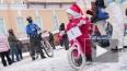 Дедов Морозов и Снегурочек посадили на велосипеды