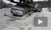 Видео и фото очевидцев ДТП: в Красноярском крае пикап от столкновения с автовозом разлетелся на части