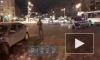 Видео: на Светлановском проспекте столкнулись четыре иномарки, один человек погиб