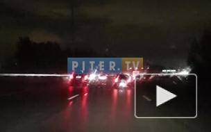 Видео: на 41-м км КАД отключили освещение