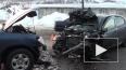 Тройное ДТП в Мурманске попало на видео