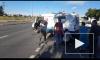 """ДТП на Маршала Блюхера: мотоцикл на большой скорости столкнулся с """"Газель"""""""