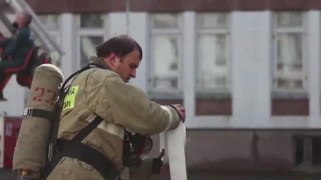 Готовность №1 в школе-лицее № 40. Пожарные вывели всех из огня