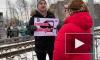 """Активисты устроили пикет у """"перехода смерти"""" на Туристской"""