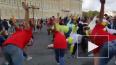 На Дворцовой площади проходит спортивный праздник ...
