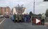 Троллейбус на человеческой тяге: на Кушелевской пассажиры толкали общественный транспорт