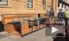 В центре Петербурга сотрудники ЦПЭФГИ сносят летние веранды