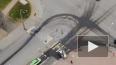 Видео: после ДТП на Типанова автомобиль влетел в столб